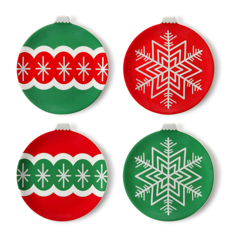 "Set of four 8"" Ornament Plates"