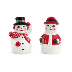 Mr. and Mrs. Snowman Salt & Pepper Shakers