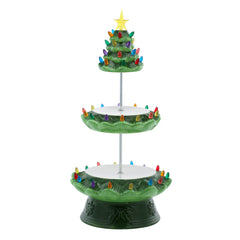 Tiered Green Nostalgic Tree Serving Plate