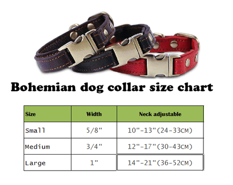 Personalized Real Leather dog collar