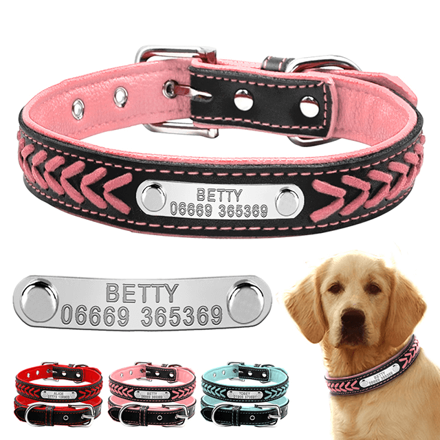 Customized Dog Collars , Personalized Pet Name ID Collar Engraving For Small Medium Large Dogs