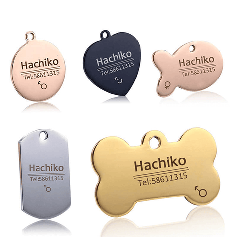 Free engraving Dog cat collar accessories, Custom Decoration Pet ID Dog Tags Collars
