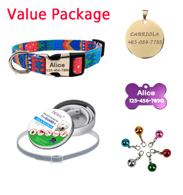 custom dog collars, value package