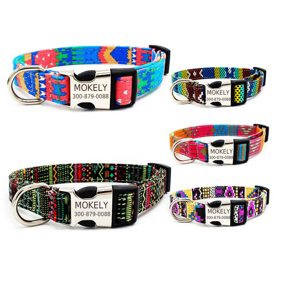 custom dog collars, value package, Personalized Dog Collar, bohemia style