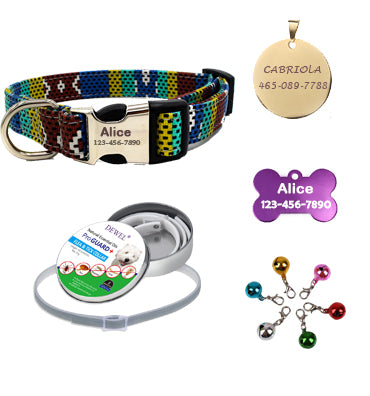 custom dog collars, value package, Bohemia, speckled blue