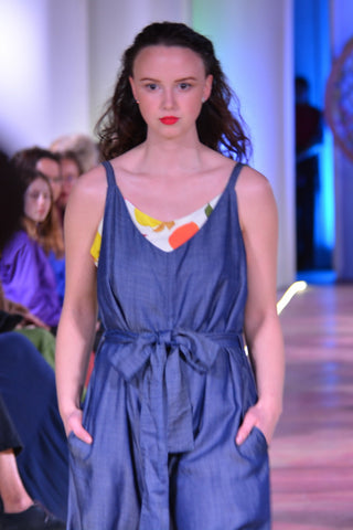 Model in jumpsuit