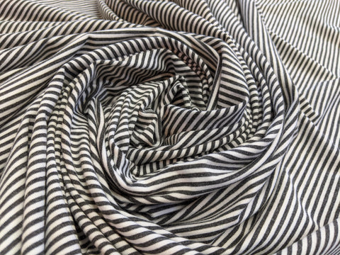 bamboo and organic cotton stripe fabric