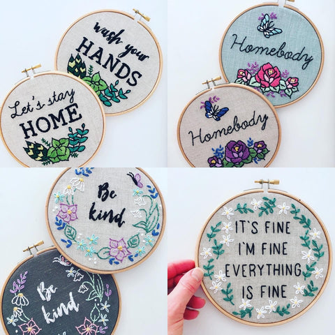 I Heart Stitch Art Embroidery Hoop Designs