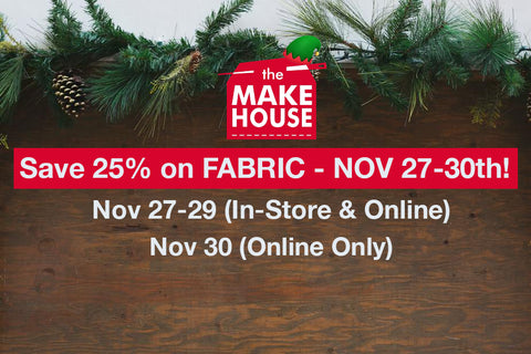 Black Friday Fabric Sale Poster