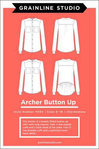 ARCHER BUTTON UP SHIRT - PAPER PATTERN