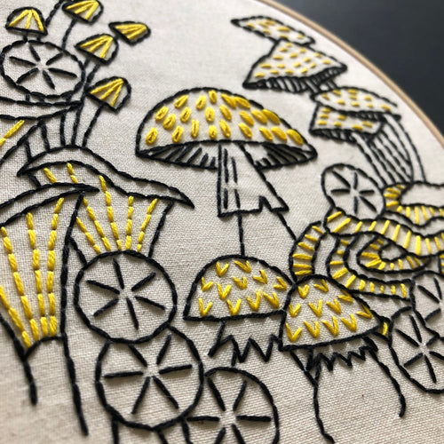 MUSHROOM 'FUNGUS AMONG US' - COMPLETE EMBROIDERY KIT