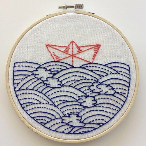 HOPE FLOATS MY BOAT - COMPLETE EMBROIDERY KIT