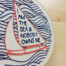 Load image into Gallery viewer, I AM THE SEA - COMPLETE EMBROIDERY KIT