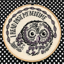 Load image into Gallery viewer, I READ PAST MY BEDTIME - COMPLETE EMBROIDERY KIT