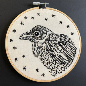 NEW! NEVERMORE - COMPLETE EMBROIDERY KIT