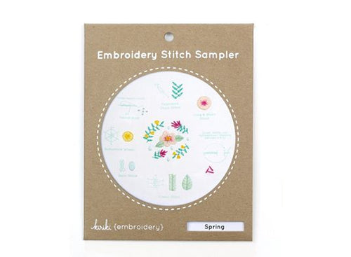 SPRING - EMBROIDERY STITCH SAMPLER
