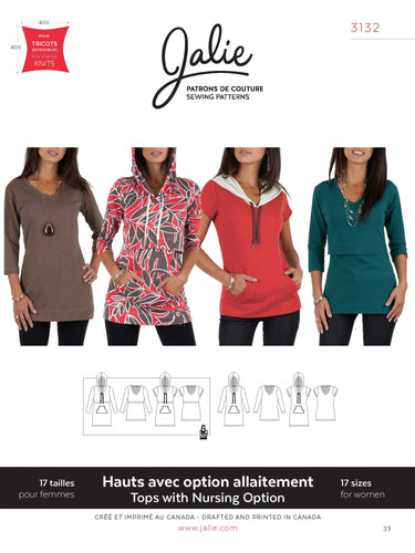 NURSING AND REGULAR TEES AND TUNIC - PAPER PATTERN