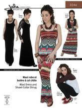 Load image into Gallery viewer, MAXI DRESS AND SHAWL-COLLAR SHRUG - PAPER PATTERN