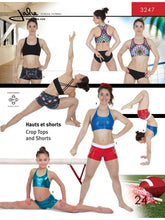 Load image into Gallery viewer, CROPPED TOPS & GYM SHORTS - PAPER PATTERN