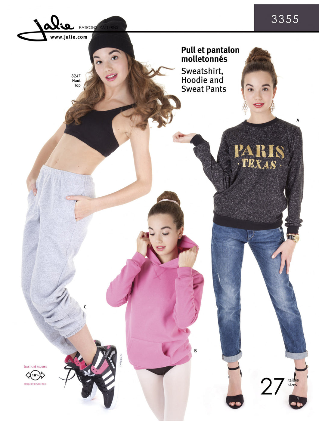 SWEATSHIRT, HOODIE AND SWEAT PANTS - PAPER PATTERN