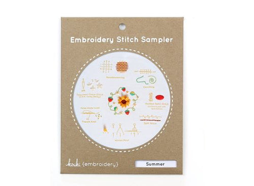 SUMMER - EMBROIDERY STITCH SAMPLER