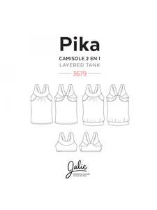 PIKA SPORTS BRA AND LAYERED BLOUSON TANK - PAPER PATTERN