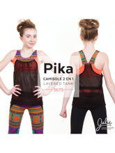 Load image into Gallery viewer, PIKA SPORTS BRA AND LAYERED BLOUSON TANK - PAPER PATTERN