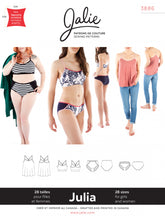 Load image into Gallery viewer, JULIA CAMISOLE, BRALETTE & PANTIES - PAPER PATTERN