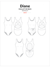 Load image into Gallery viewer, DIANE TANK SWIMSUIT - PAPER PATTERN