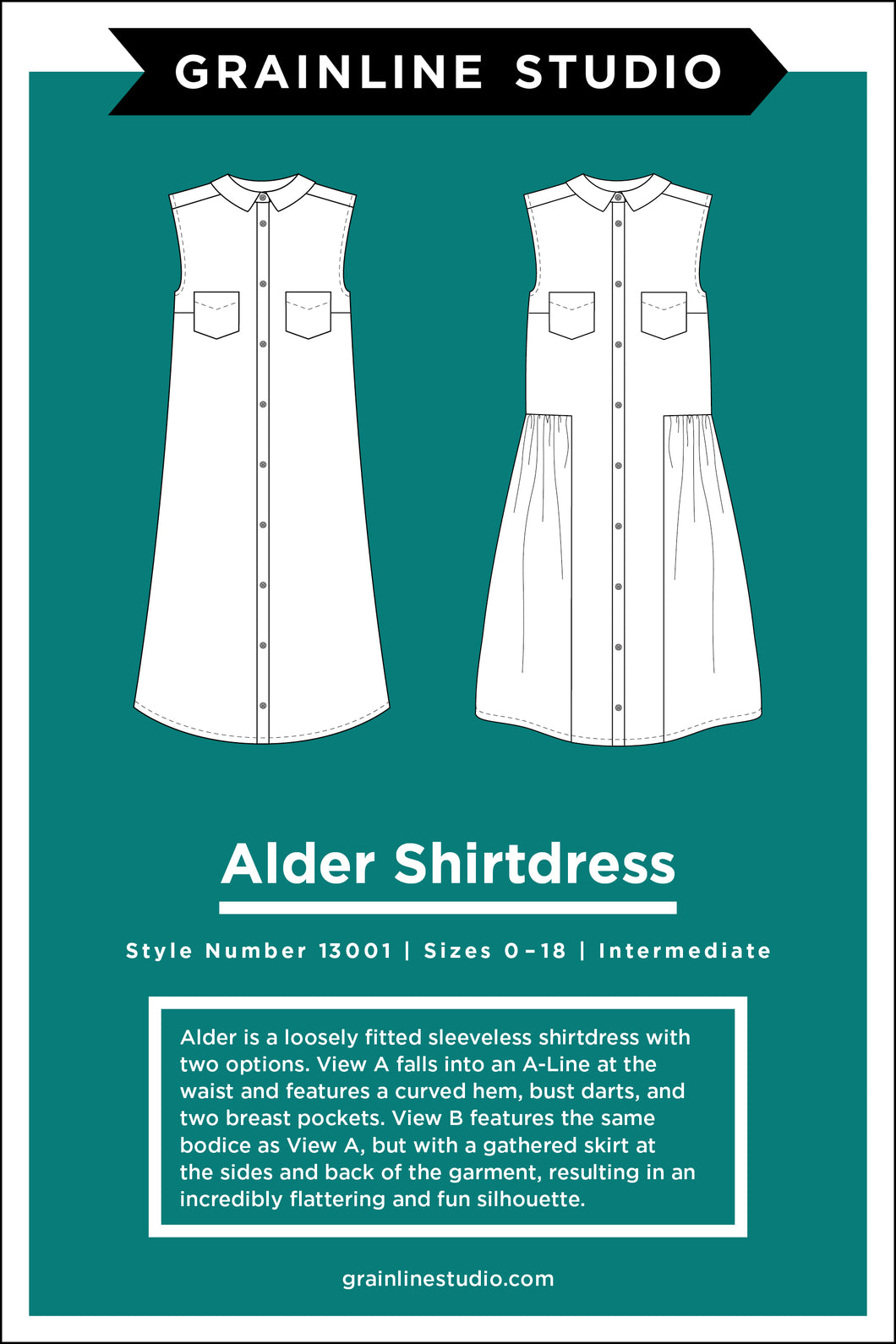 ALDER SHIRTDRESS - PAPER PATTERN