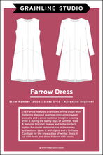 Load image into Gallery viewer, FARROW DRESS - PAPER PATTERN