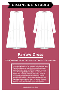 FARROW DRESS - PAPER PATTERN