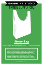 Load image into Gallery viewer, STOWE BAG - PAPER PATTERN