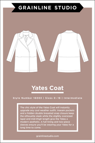 YATES COAT - PAPER PATTERN
