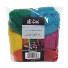 Load image into Gallery viewer, Needle Felt Kit - Ashford Dyed Fibre - Rainbow Brights