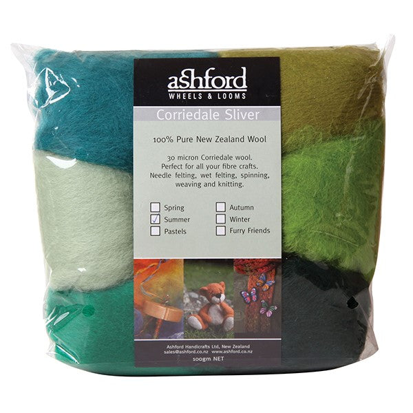 Needle Felt Kit - Ashford Dyed Fibre - Summer