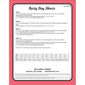 BETTY BOY SHORTS - PAPER PATTERN
