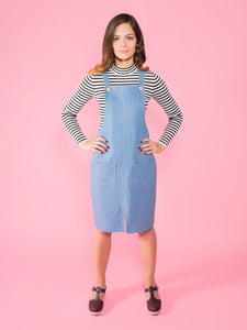 CLEO PINAFORE + OVERALL DRESS - PAPER PATTERN