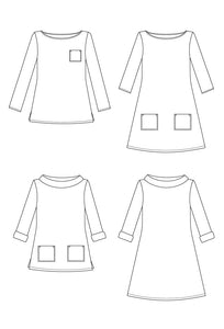 COCO TOP & DRESS - PAPER PATTERN