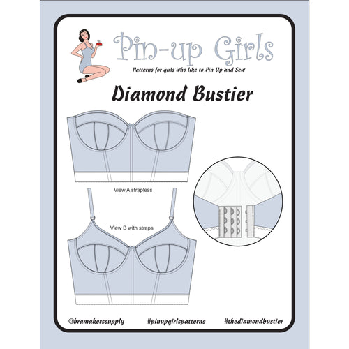 DIAMOND BUSTIER - PAPER PATTERN