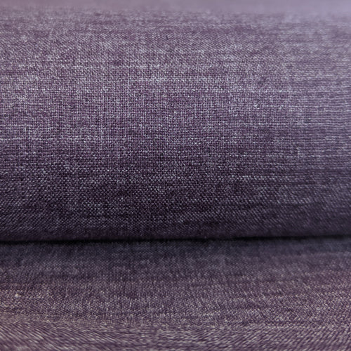 Hemp Recycled Poly Spandex Chambray - 1/2 meter - Heather Eggplant