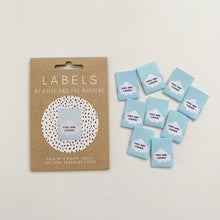 "Load image into Gallery viewer, ""YOU ARE LOVED"" - WOVEN LABELS 8 PACK"