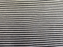 Load image into Gallery viewer, BAMBOO / ORGANIC COTTON JERSEY - 1/2 METER - STEEL STRIPE