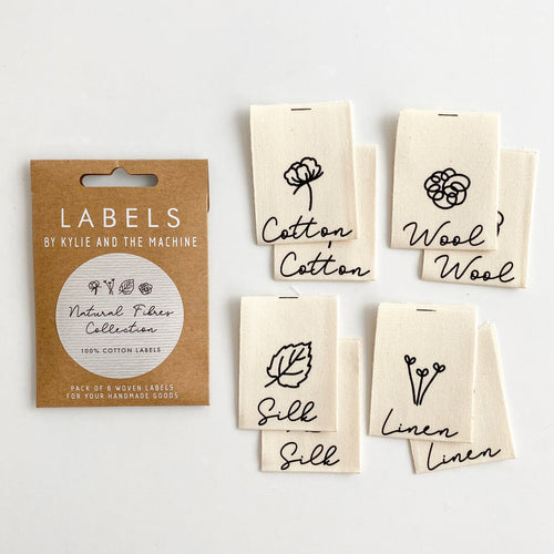 NATURAL FIBRES COLLECTION - WOVEN LABELS 8 PACK