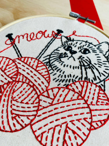 KNITTEN' KITTEN- COMPLETE EMBROIDERY KIT