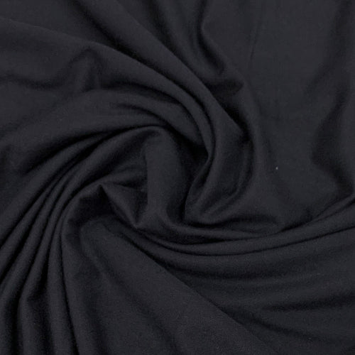 Lyocell (TENCEL™) / Organic Cotton Stretch Fleece - 1/2 meter - Navy