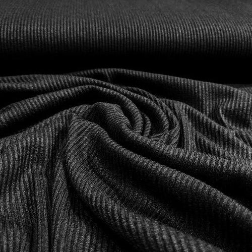 Ribbed (TENCEL™) Modal with Spandex - 1/2 meter - Black