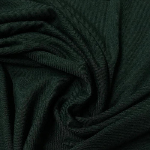 Lyocell (TENCEL™) / Organic Cotton Stretch Fleece - 1/2 meter - Pine