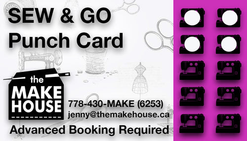 Sew & Go Punchcard (10 Hours)