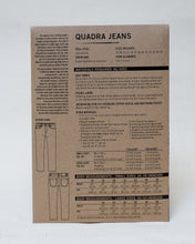 Load image into Gallery viewer, QUADRA JEANS - PAPER PATTERN